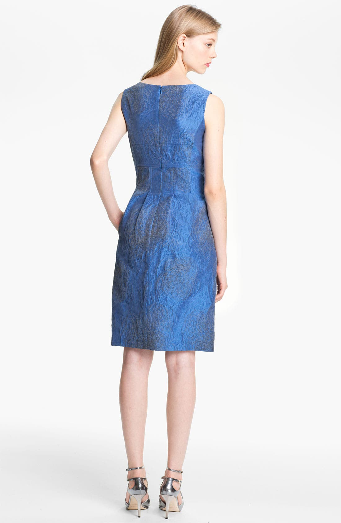 Alternate Image 2  - Lela Rose Scribble Jacquard Sheath Dress
