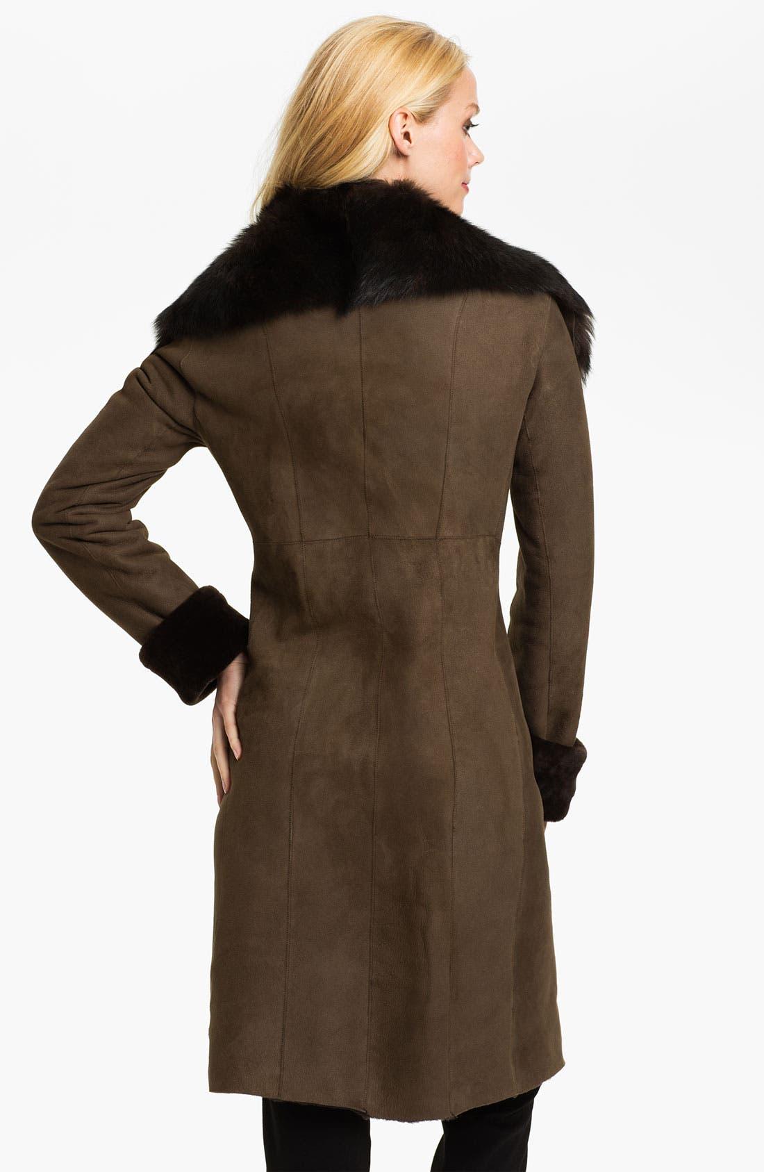 Alternate Image 2  - Blue Duck Genuine Spanish Merino Shearling Coat