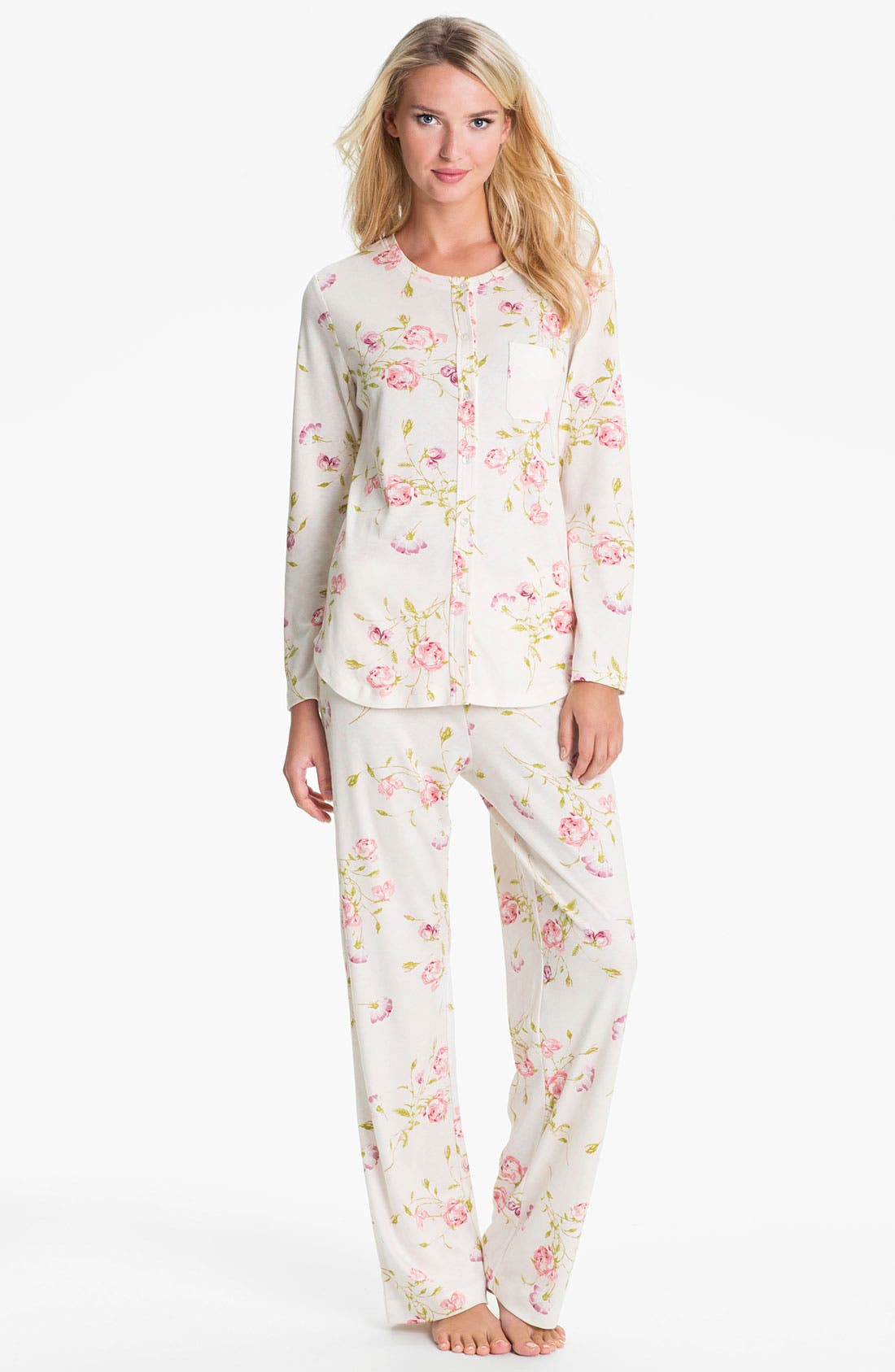 Alternate Image 1 Selected - Carole Hochman Designs Interlock Knit Pajamas