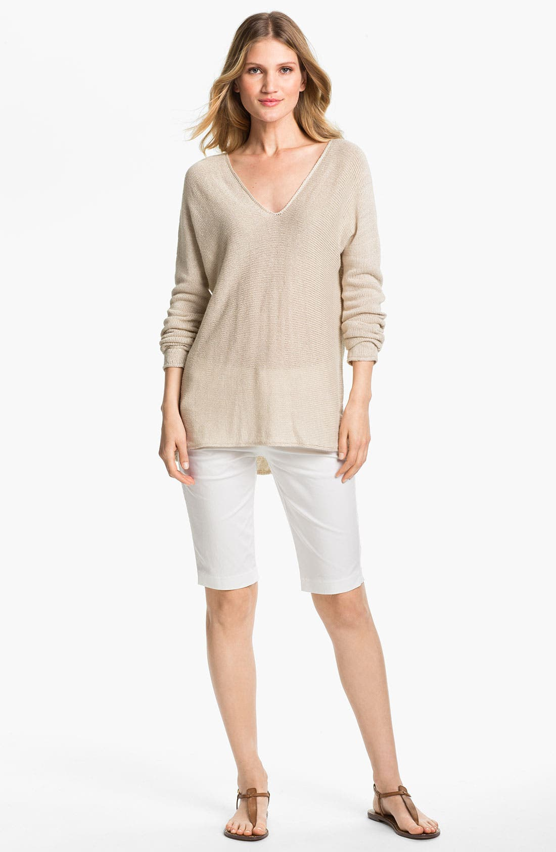 Alternate Image 1 Selected - Vince Linen Sweater