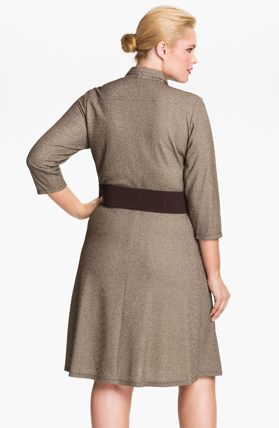 Alternate Image 2  - Eliza J Belted Cowl Neck Dress (Plus)