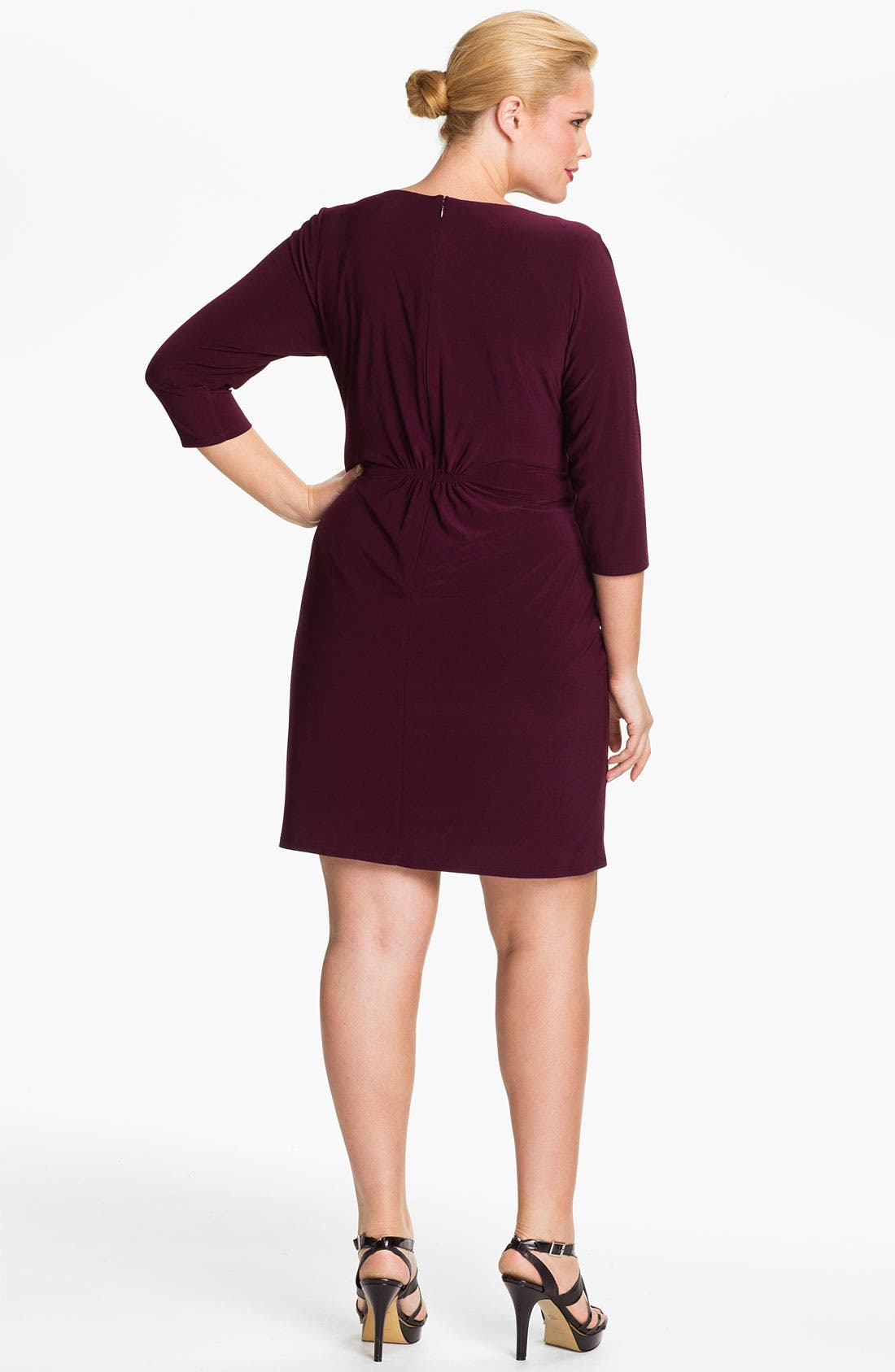 Alternate Image 2  - Eliza J Asymmetrical Knit Dress (Plus)