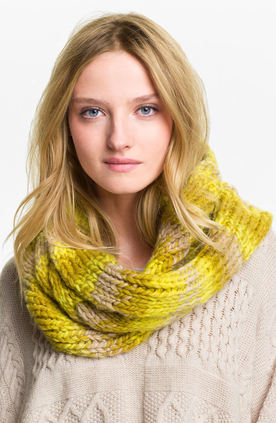 Alternate Image 1 Selected - Echo Space Dyed Cable Knit Infinity Scarf