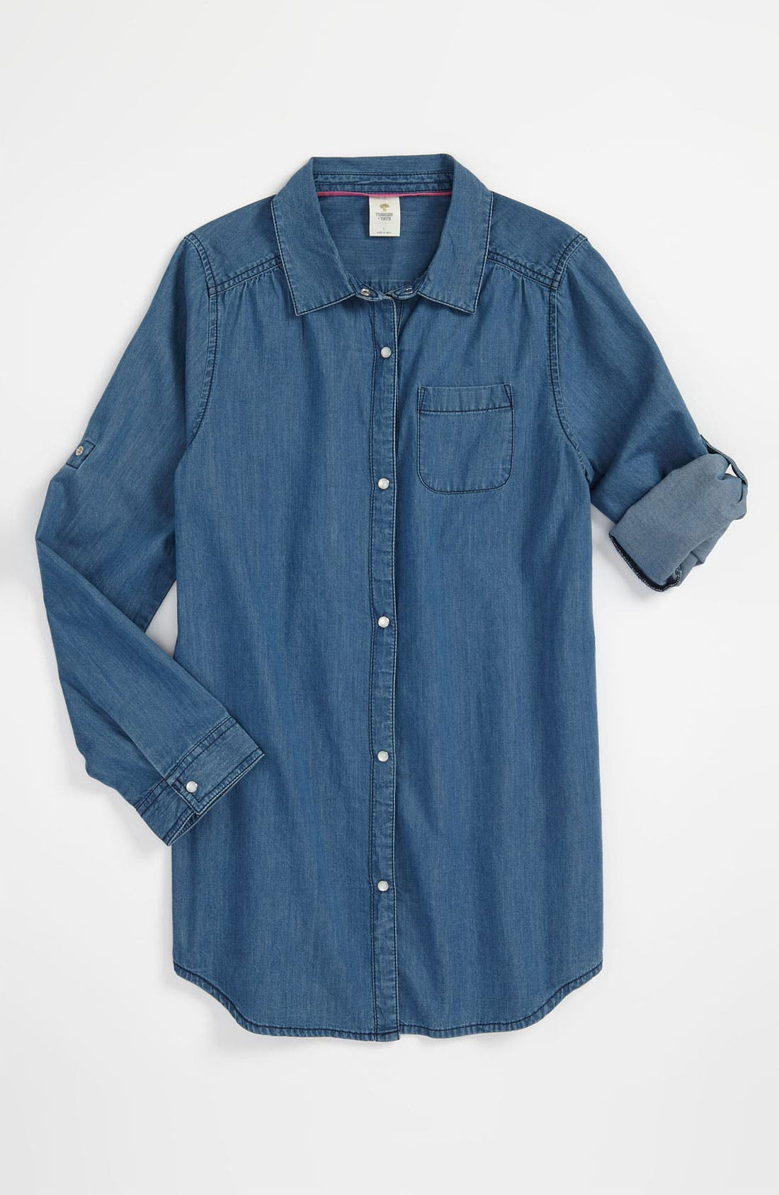 Main Image - Tucker + Tate 'Caroline' Denim Tunic (Big Girls)