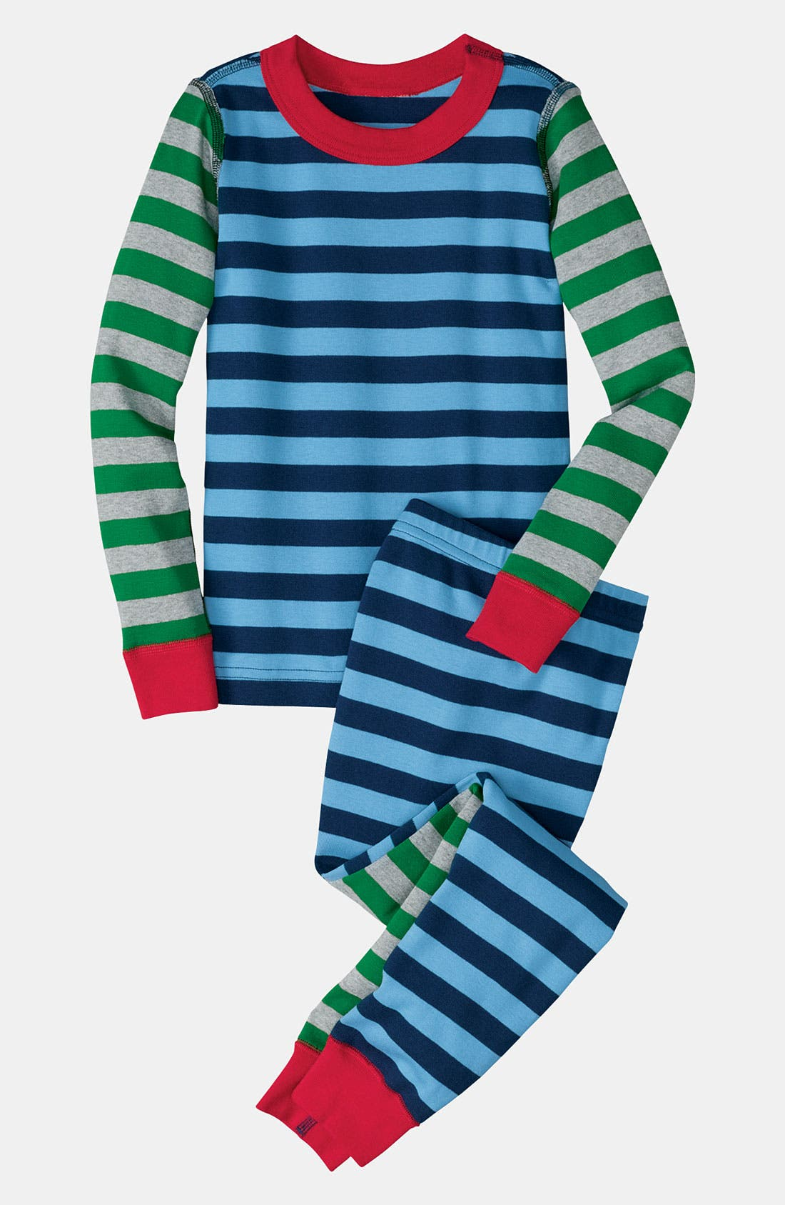 Alternate Image 1 Selected - Hanna Andersson Two Piece Fitted Pajamas (Toddler)