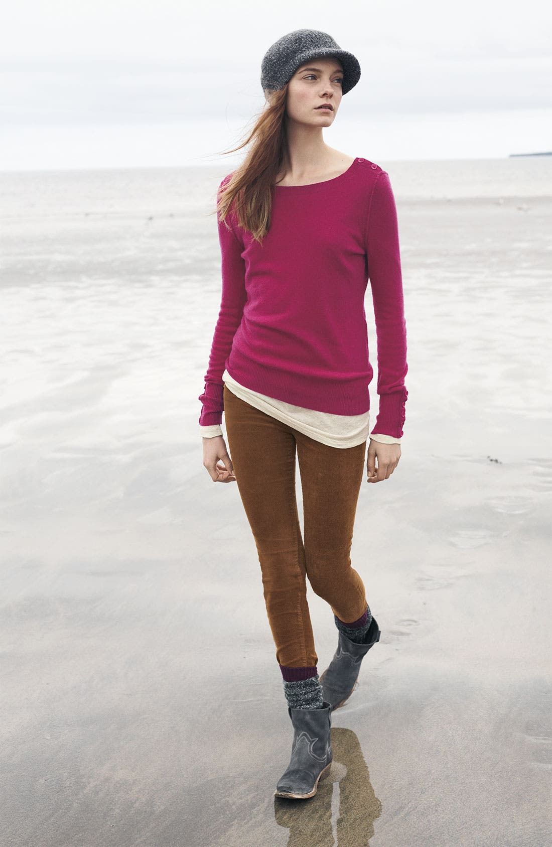 Alternate Image 3  - Caslon® Boatneck Cashmere Sweater