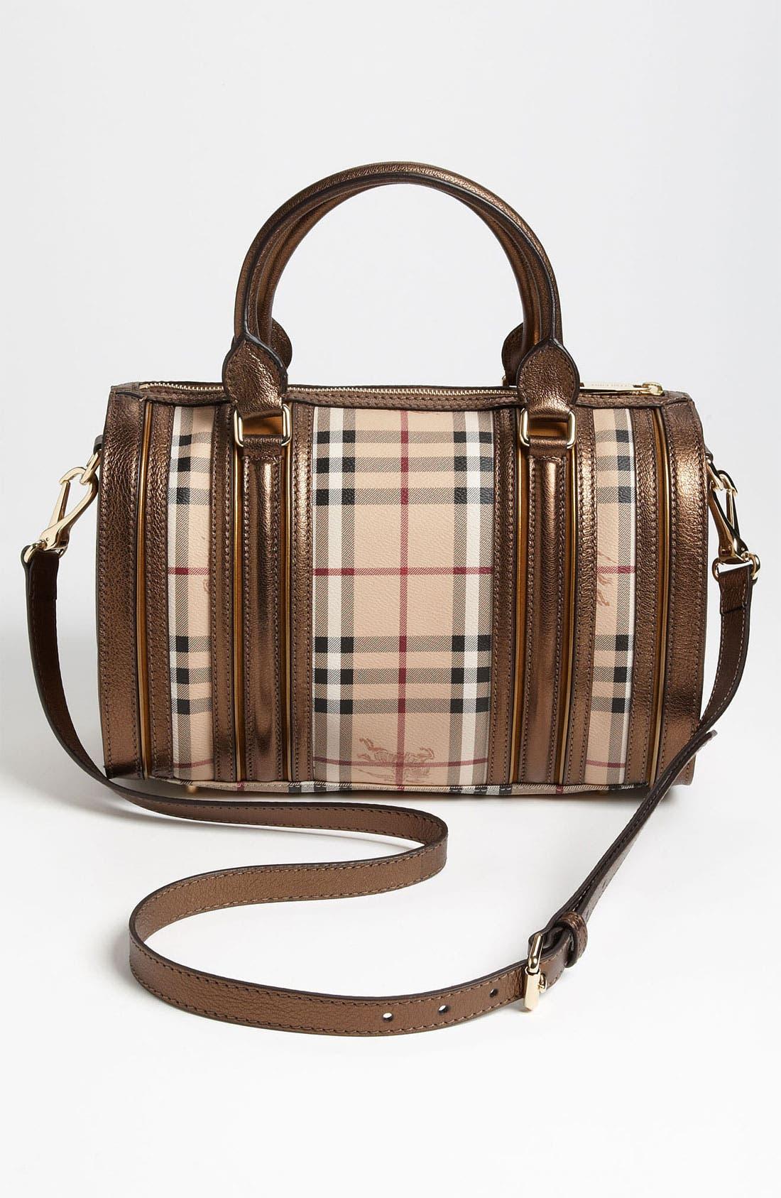 Alternate Image 4  - Burberry 'Haymarket Check' Bowling Bag