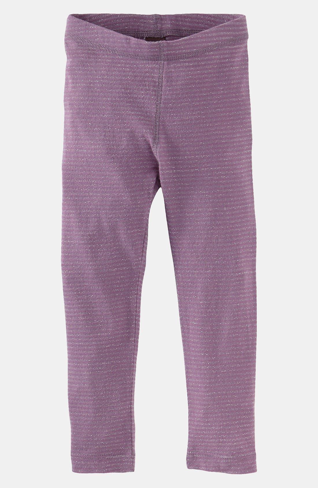 Alternate Image 1 Selected - Tea Collection 'Sparkle Stripe' Leggings (Infant)