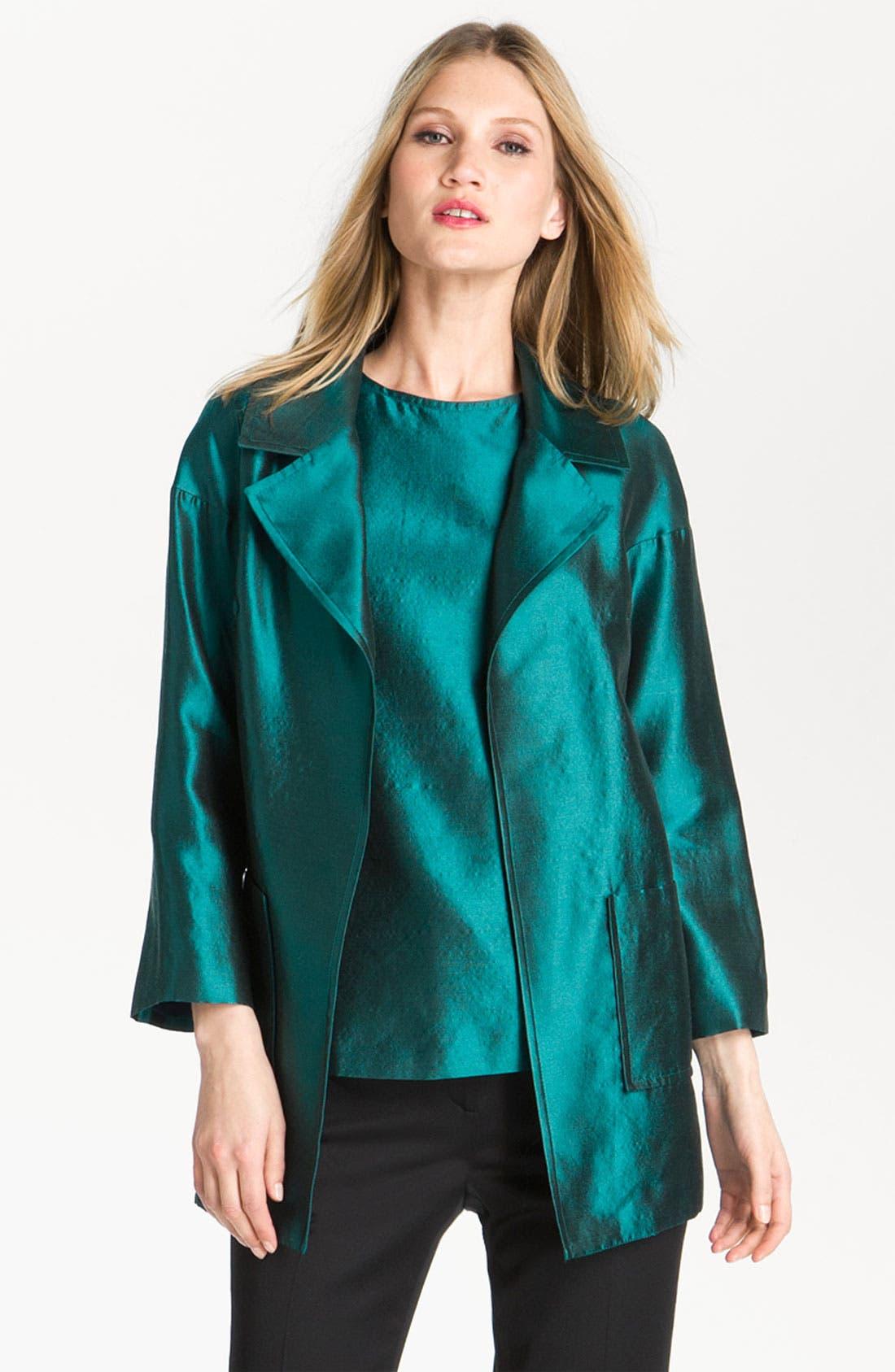 Alternate Image 2  - St. John Collection Wool & Silk Taffeta Topper