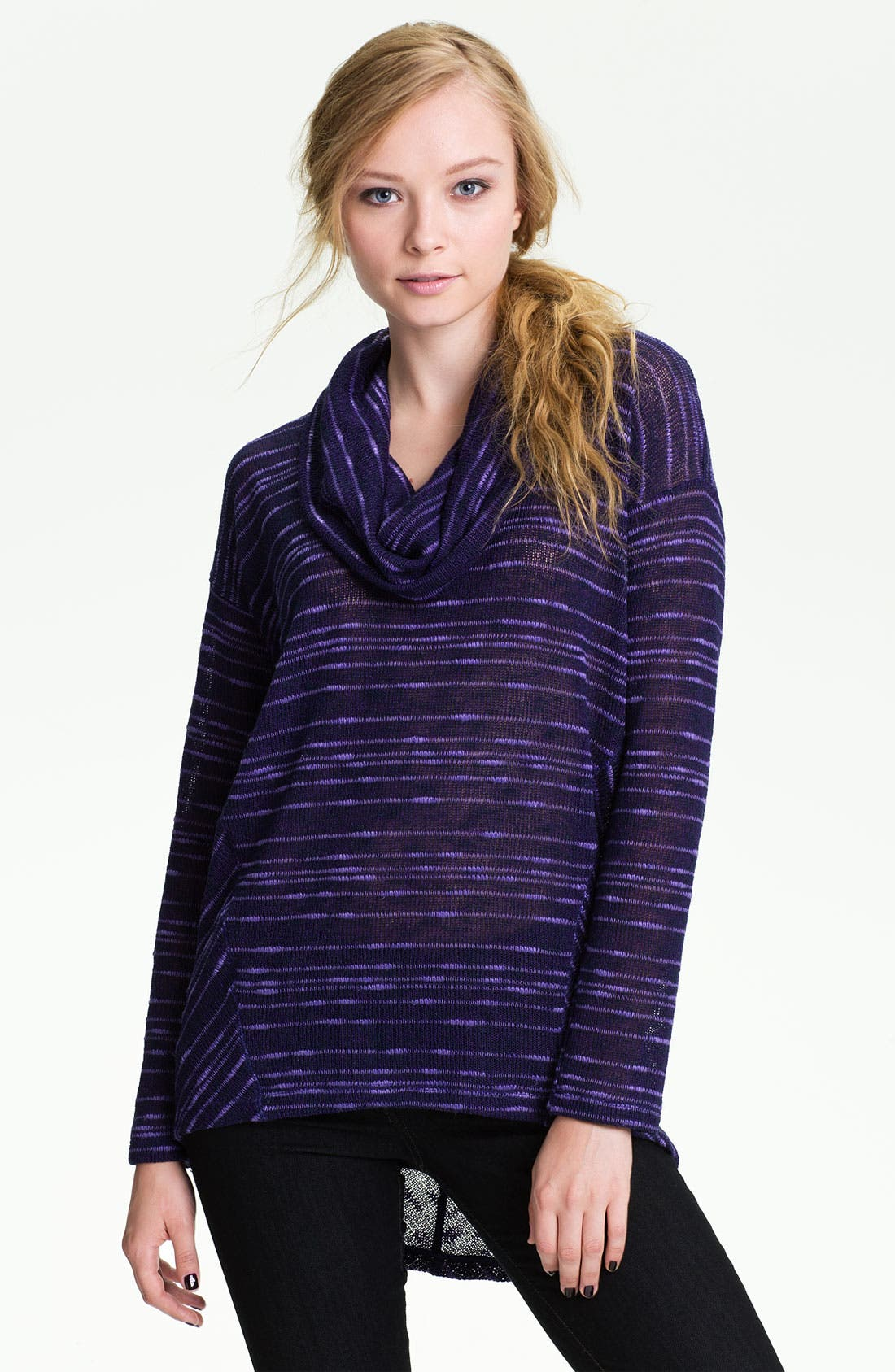 Main Image - Splendid Stripe Cowl Neck Sweater