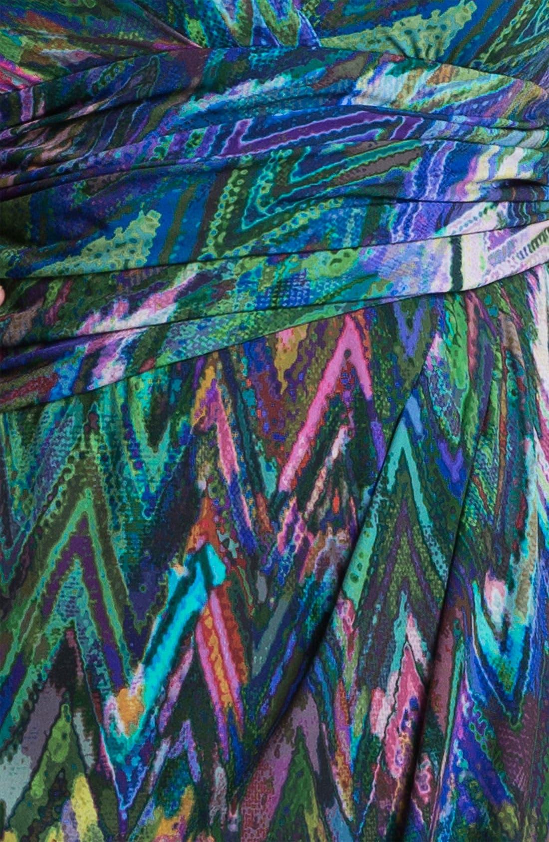 Alternate Image 3  - Suzi Chin for Maggy Boutique Print Surplice Sheath Dress (Plus)