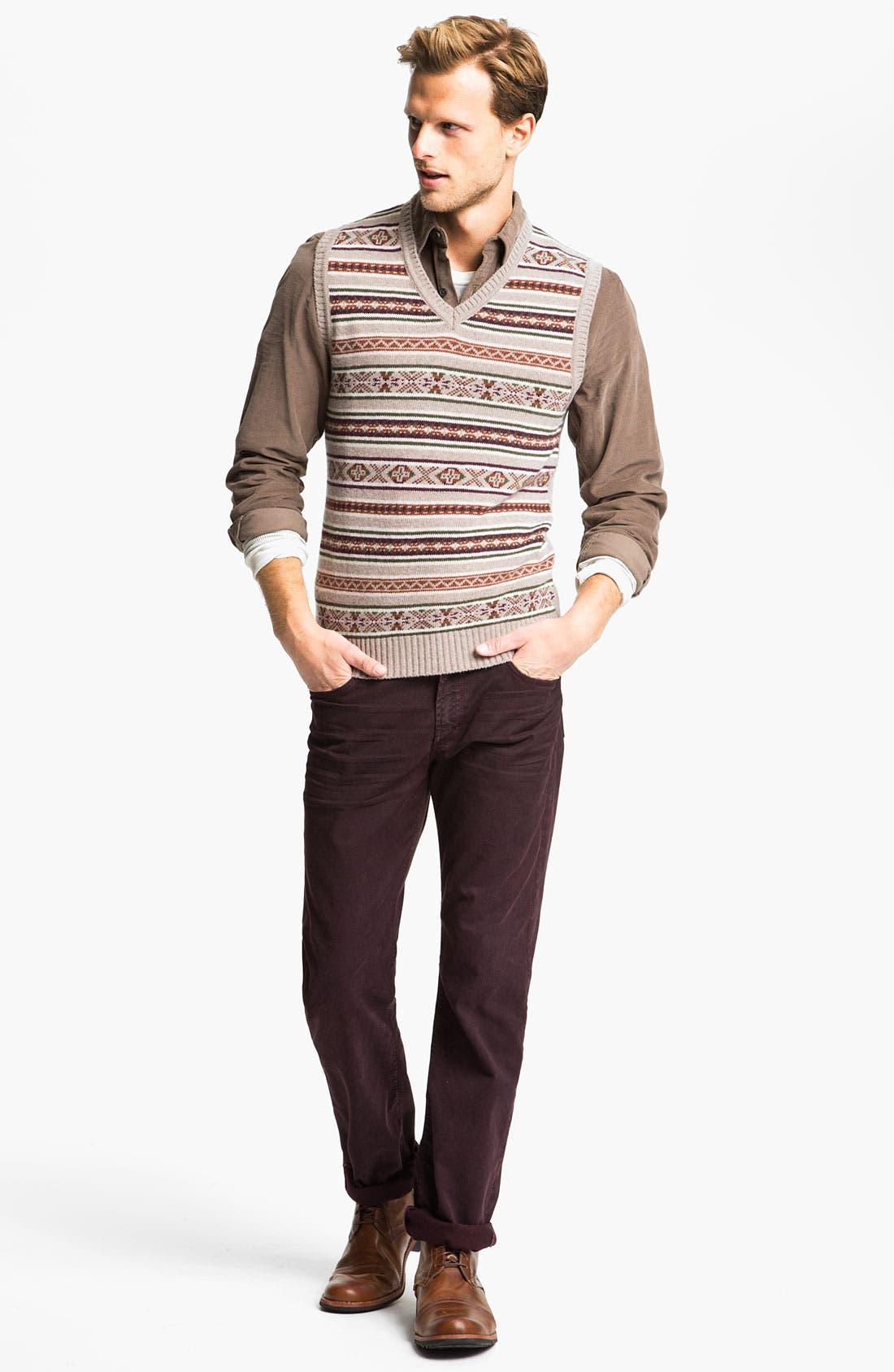Alternate Image 4  - Fiesole V-Neck Wool Blend Sweater Vest
