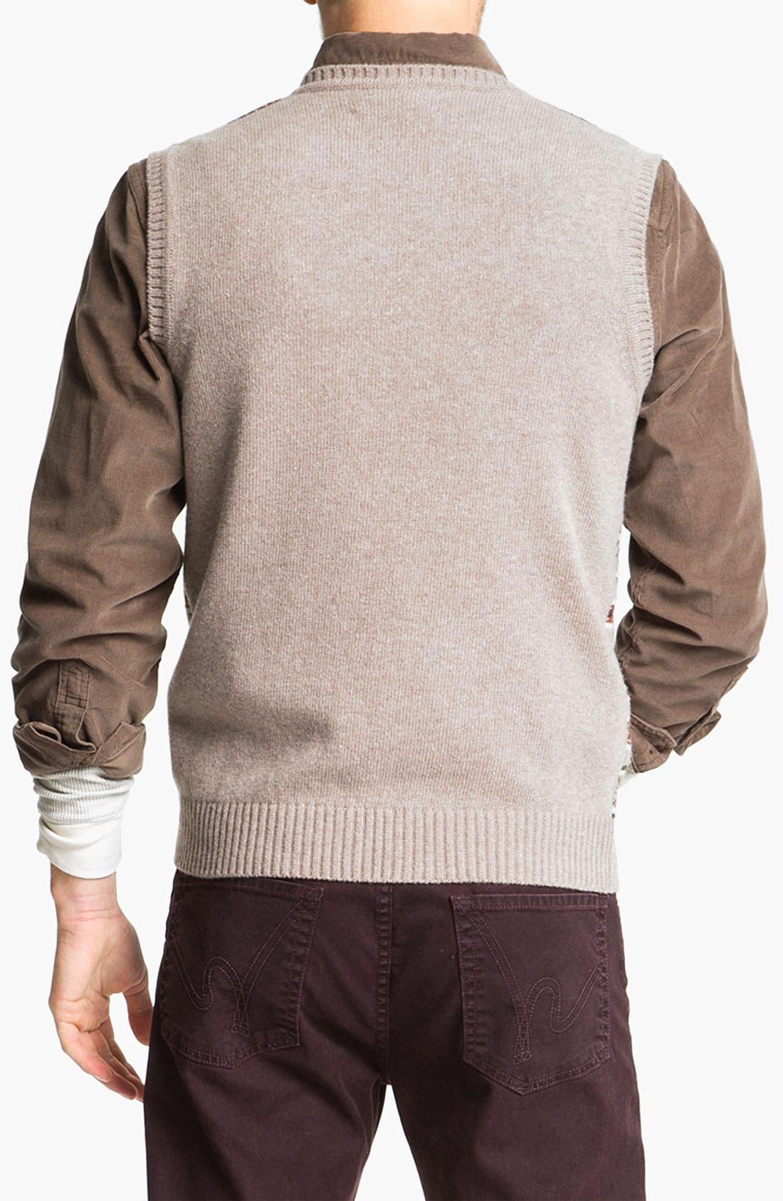 Alternate Image 2  - Fiesole V-Neck Wool Blend Sweater Vest