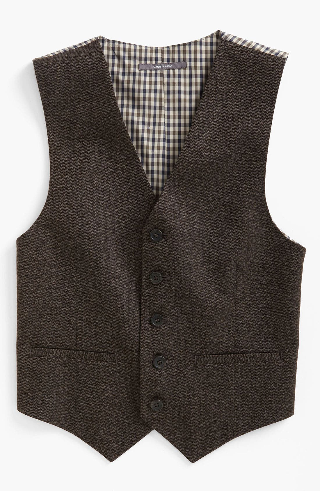 Alternate Image 1 Selected - Nordstrom 'Andrew' Herringbone Vest (Big Boys)