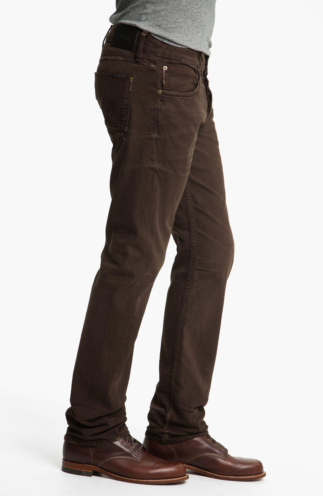 Alternate Image 3  - Hudson Jeans 'Byron' Selvedge Jeans (Russet)