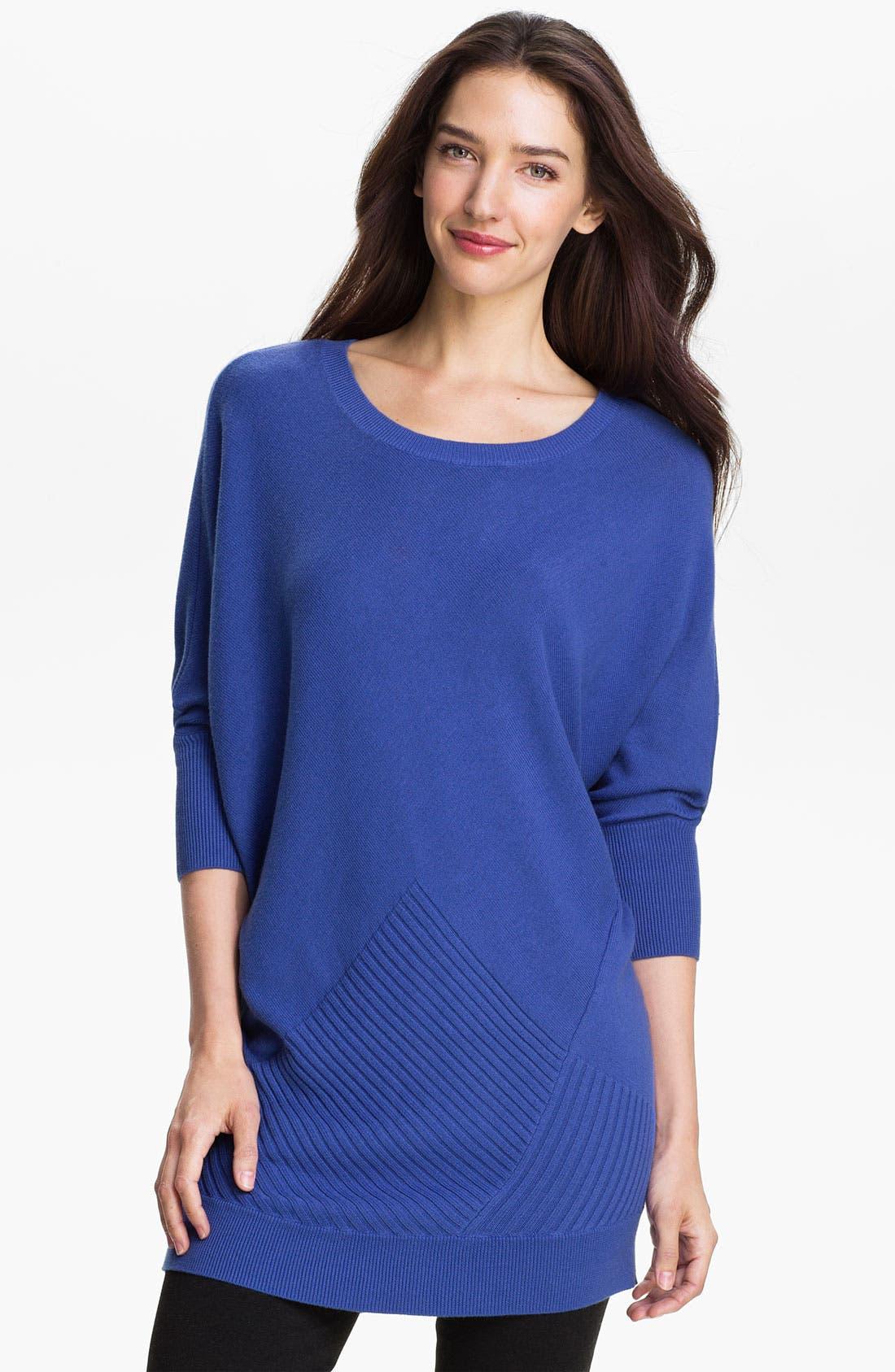 Alternate Image 1 Selected - Halogen® Three Quarter Sleeve Tunic Sweater