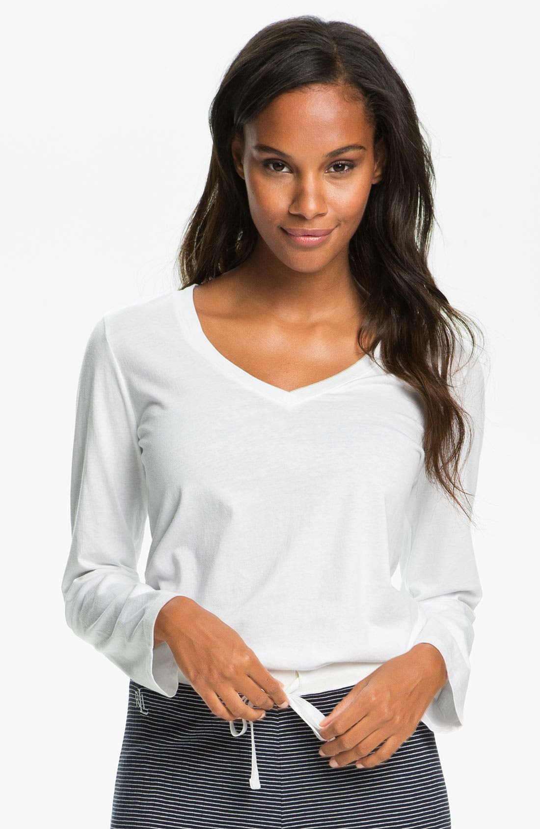 Alternate Image 1 Selected - Lauren Ralph Lauren Sleepwear Long Sleeve Sleep Tee