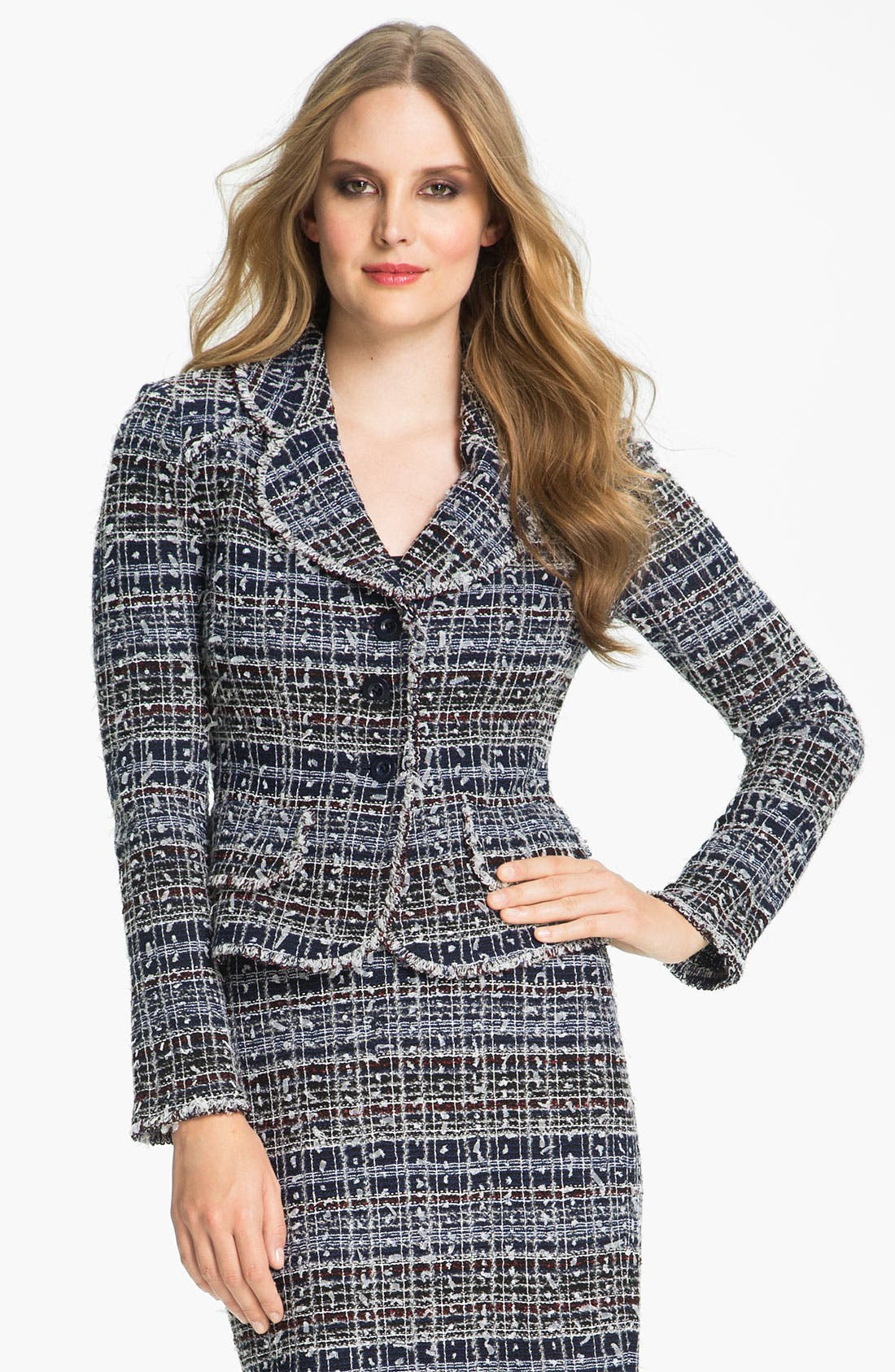 Alternate Image 2  - St. John Collection 'Sutton' Tweed Knit Jacket