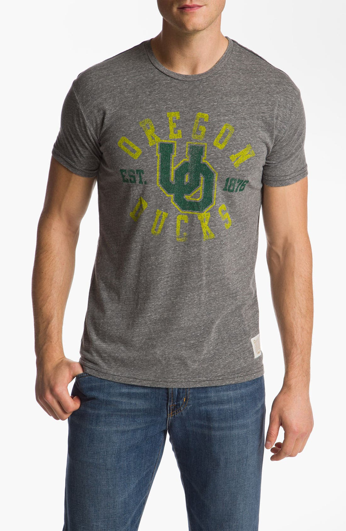 Main Image - The Original Retro Brand 'Oregon Ducks - Stitch' T-Shirt