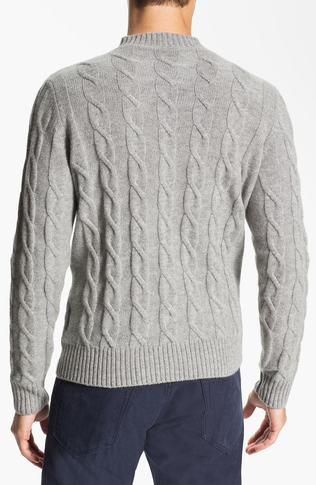 Alternate Image 2  - Fausto Reali Vannucci Cable Knit Merino Wool & Cashmere Sweater