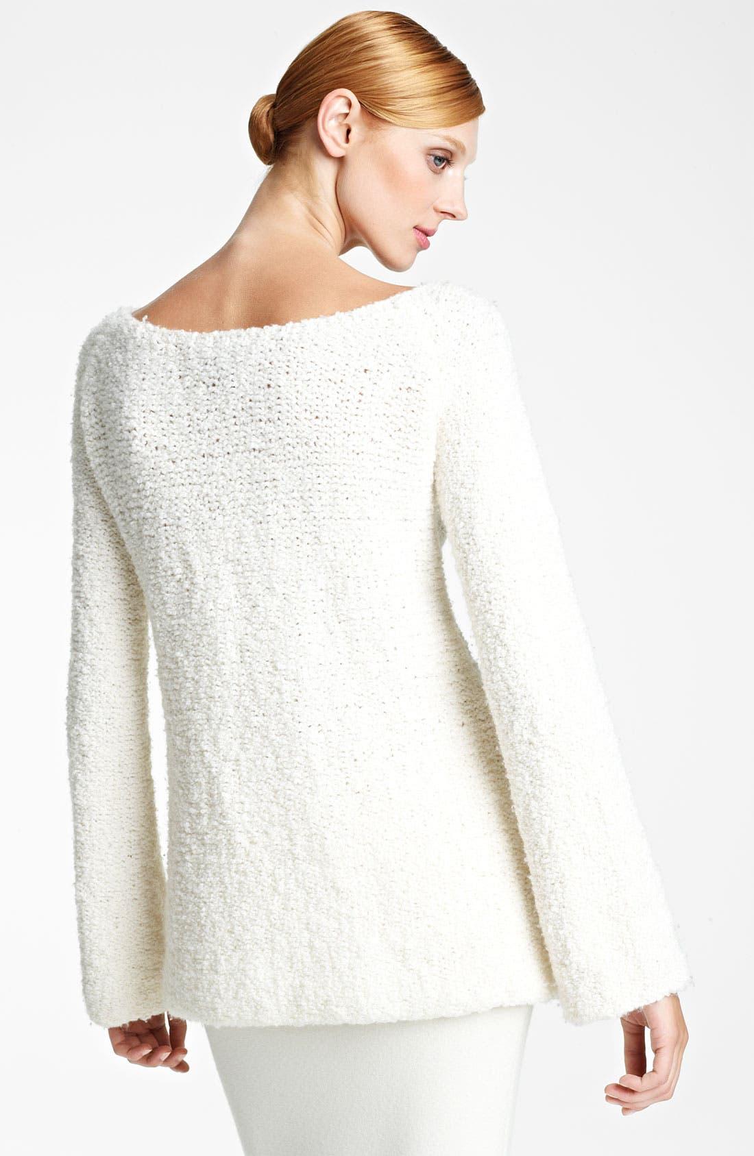 Alternate Image 2  - Donna Karan Collection Bouclé Wool & Cashmere Sweater