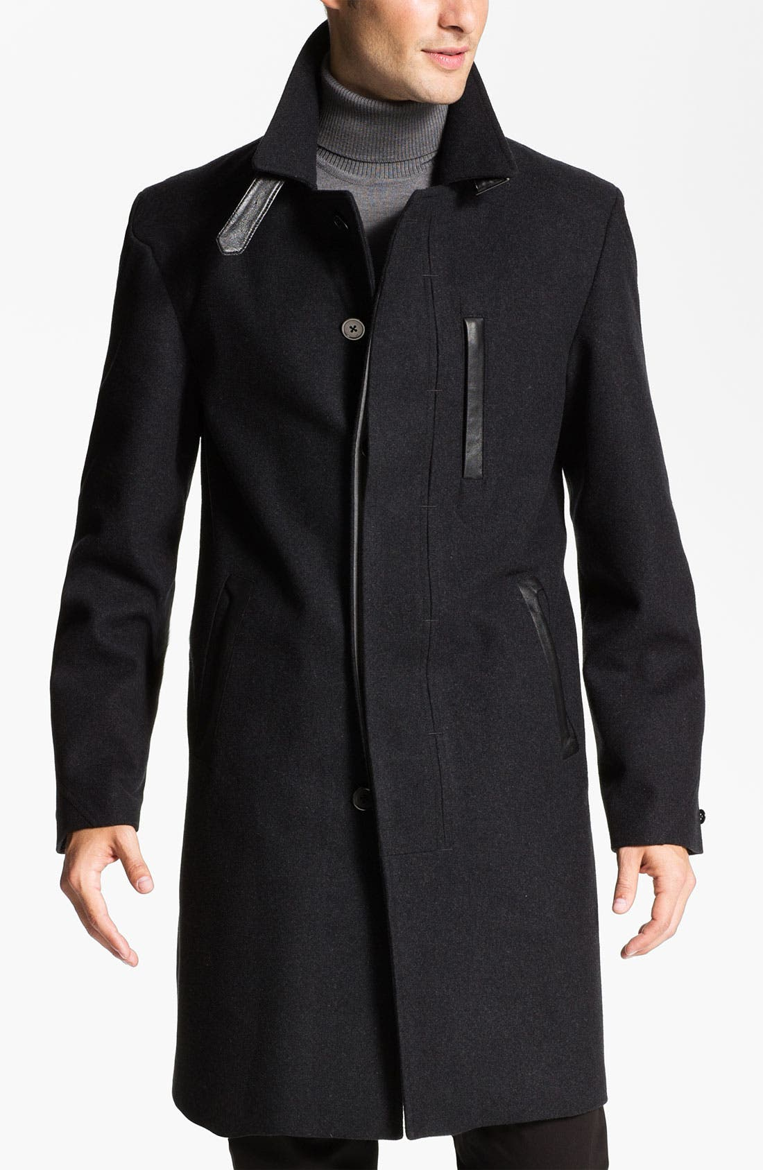 Alternate Image 1 Selected - W.R.K 'Towne' Single Breasted Wool Blend Coat