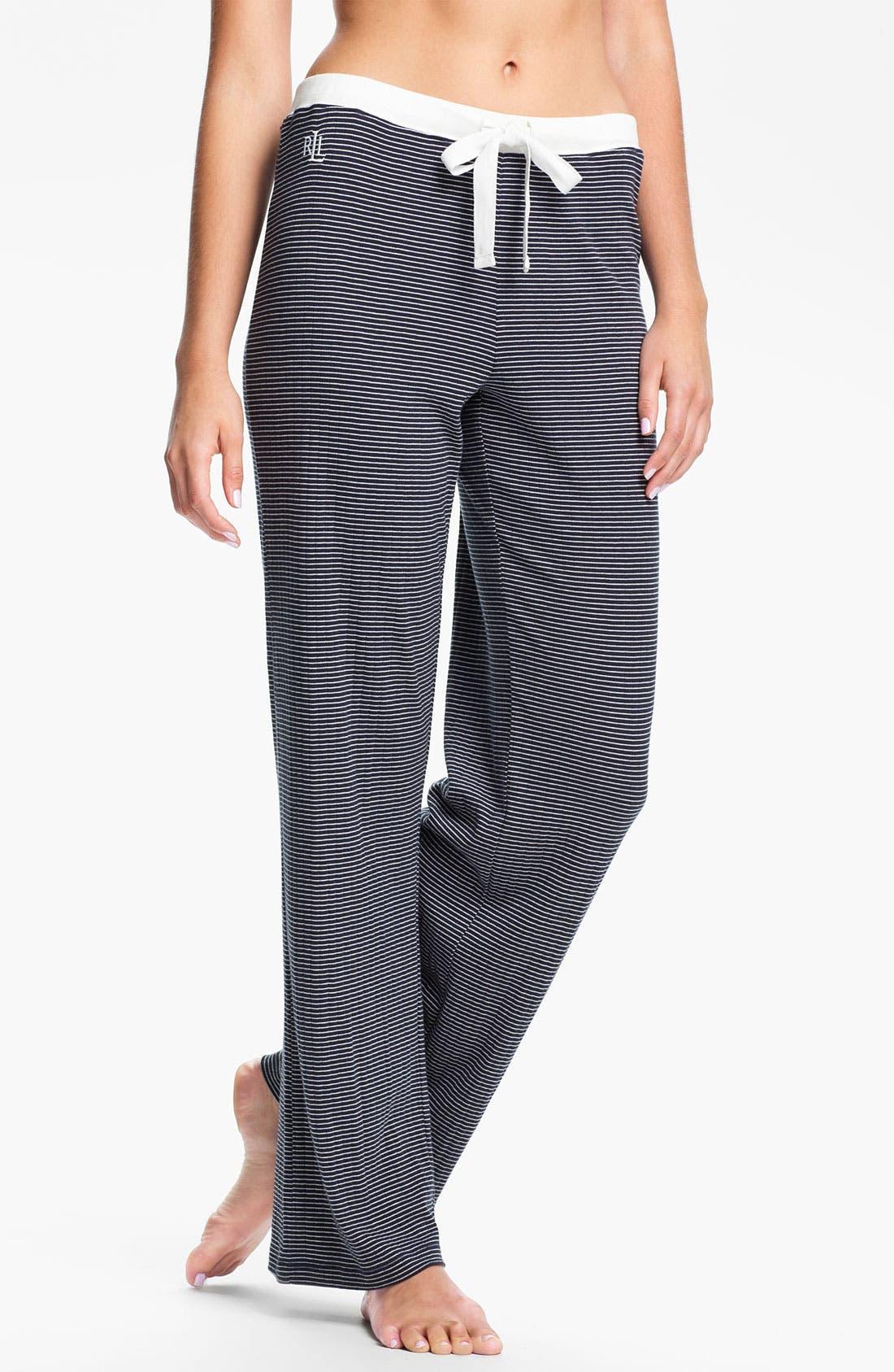 Main Image - Lauren Ralph Lauren Sleepwear Knit Pants