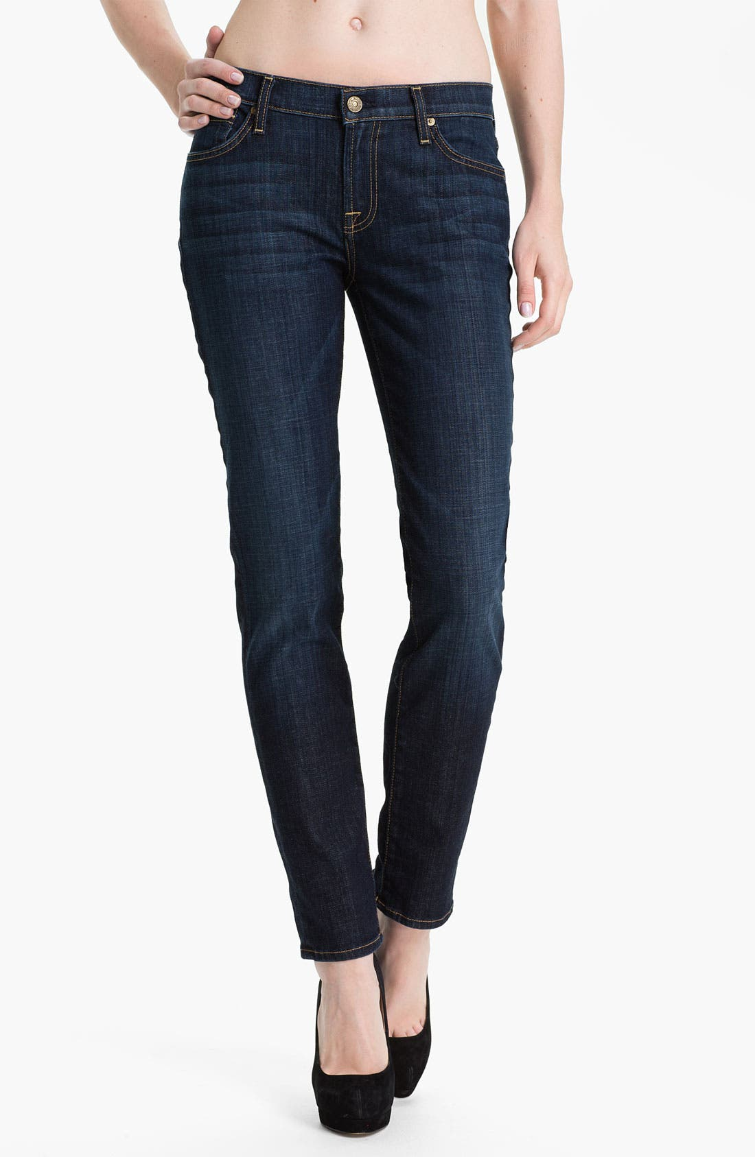 Alternate Image 1  - 7 For All Mankind® 'The Slim Cigarette' Stretch Jeans (Los Angeles)