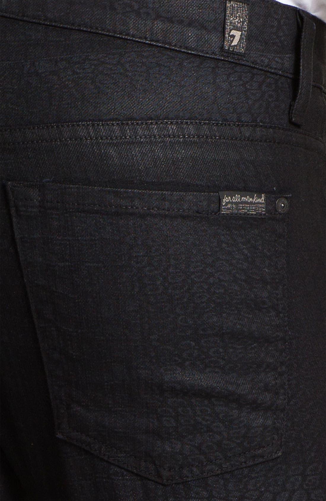 Alternate Image 4  - 7 For All Mankind® 'Rhigby' Slim Straight Leg Jeans (Dark Indigo)