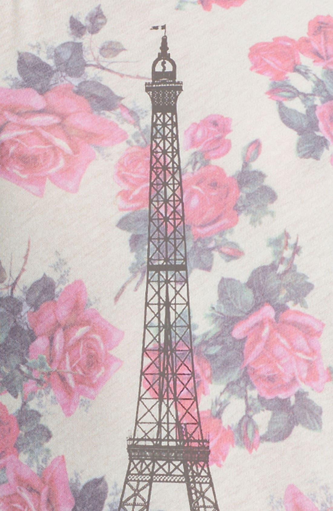 Alternate Image 3  - Wildfox 'Tour Eiffel' Rose Print Graphic Tee