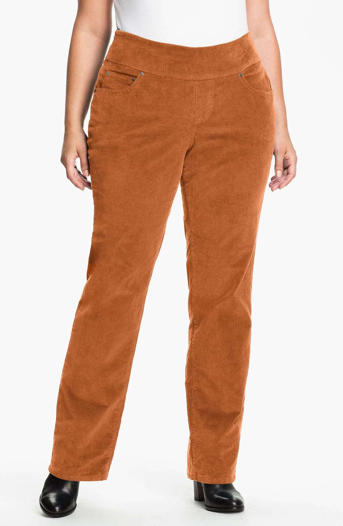 Alternate Image 1 Selected - Jag Jeans 'Peri' Straight Leg Corduroy Pants (Plus)