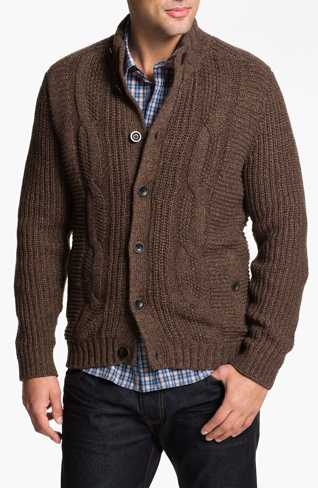 Main Image - Ted Baker London 'Nonoise' Cable Knit Cardigan