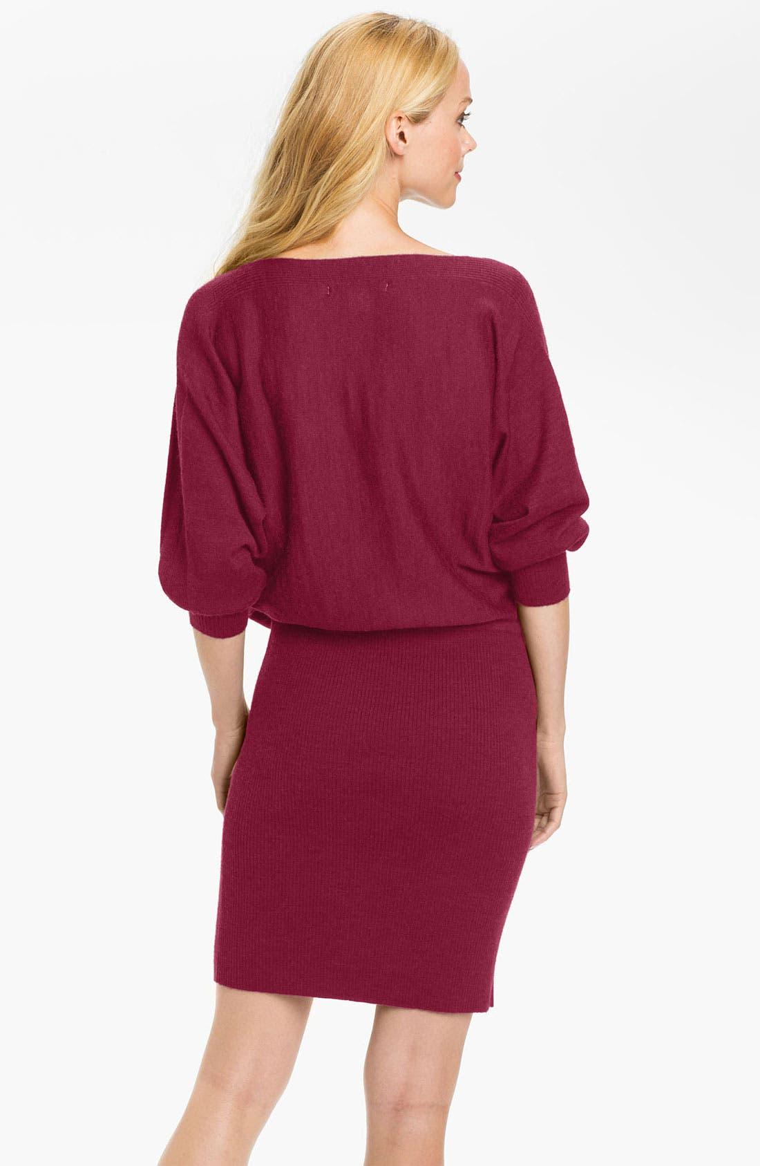 Alternate Image 2  - Maggy London Blouson Sweater Dress
