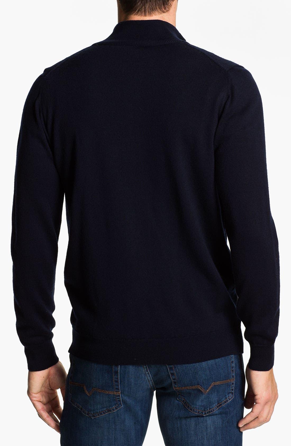 Alternate Image 2  - Lacoste Mock Neck Lambswool Sweater