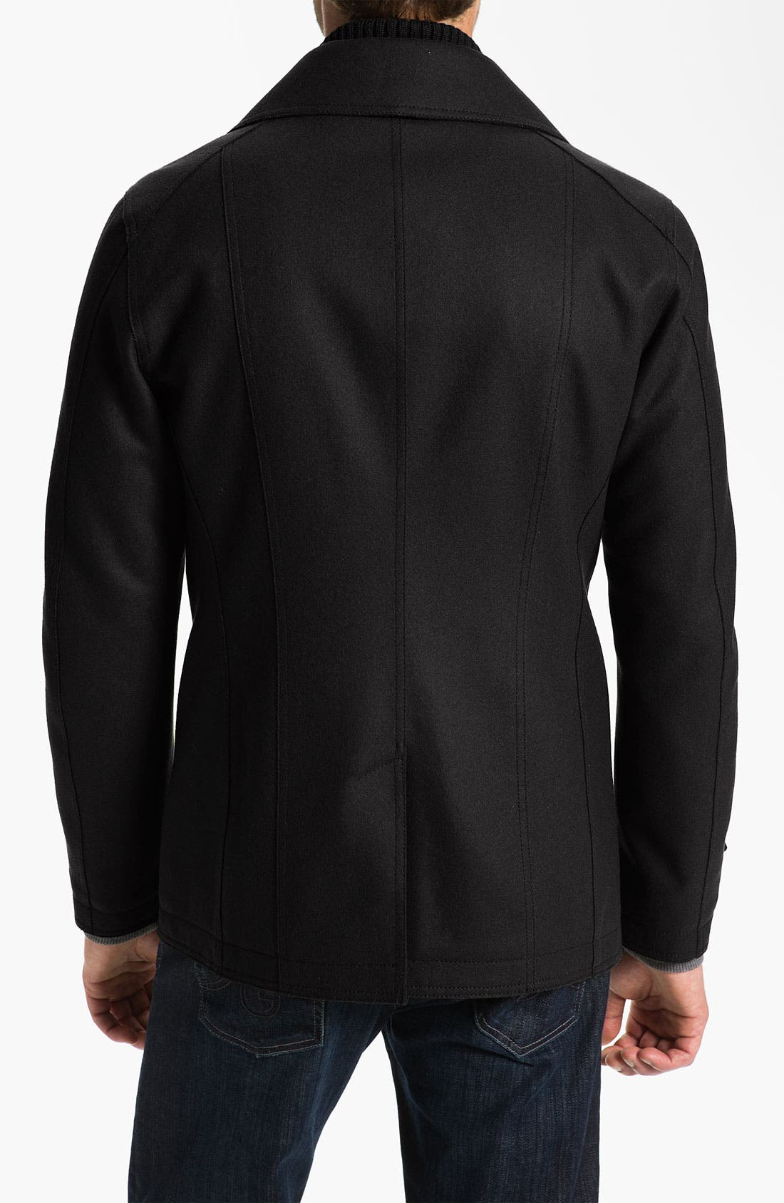 Alternate Image 2  - Allegri Wool & Cashmere Blend Caban Coat