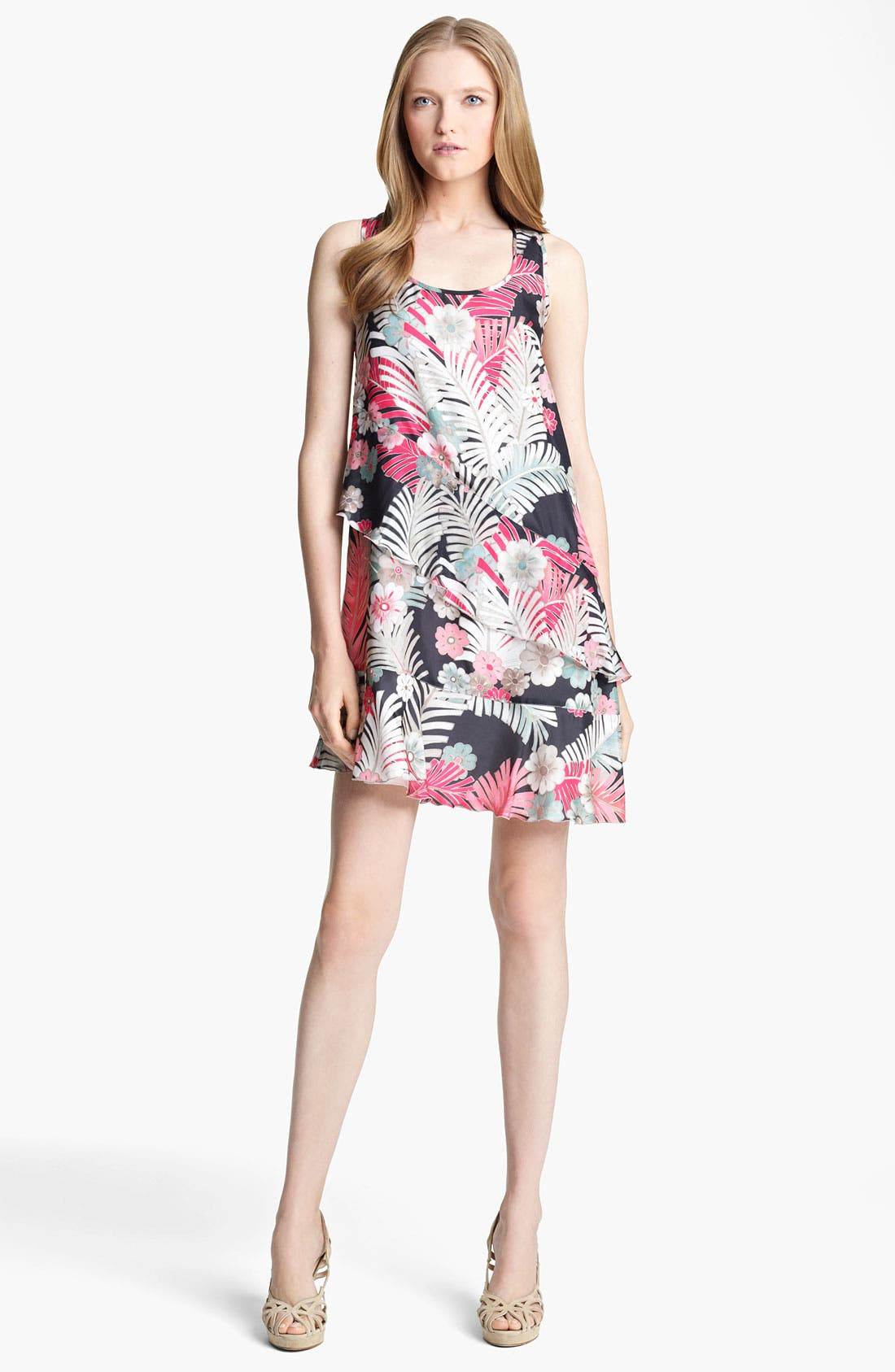 Main Image - Armani Collezioni Botanical Print Silk Dress