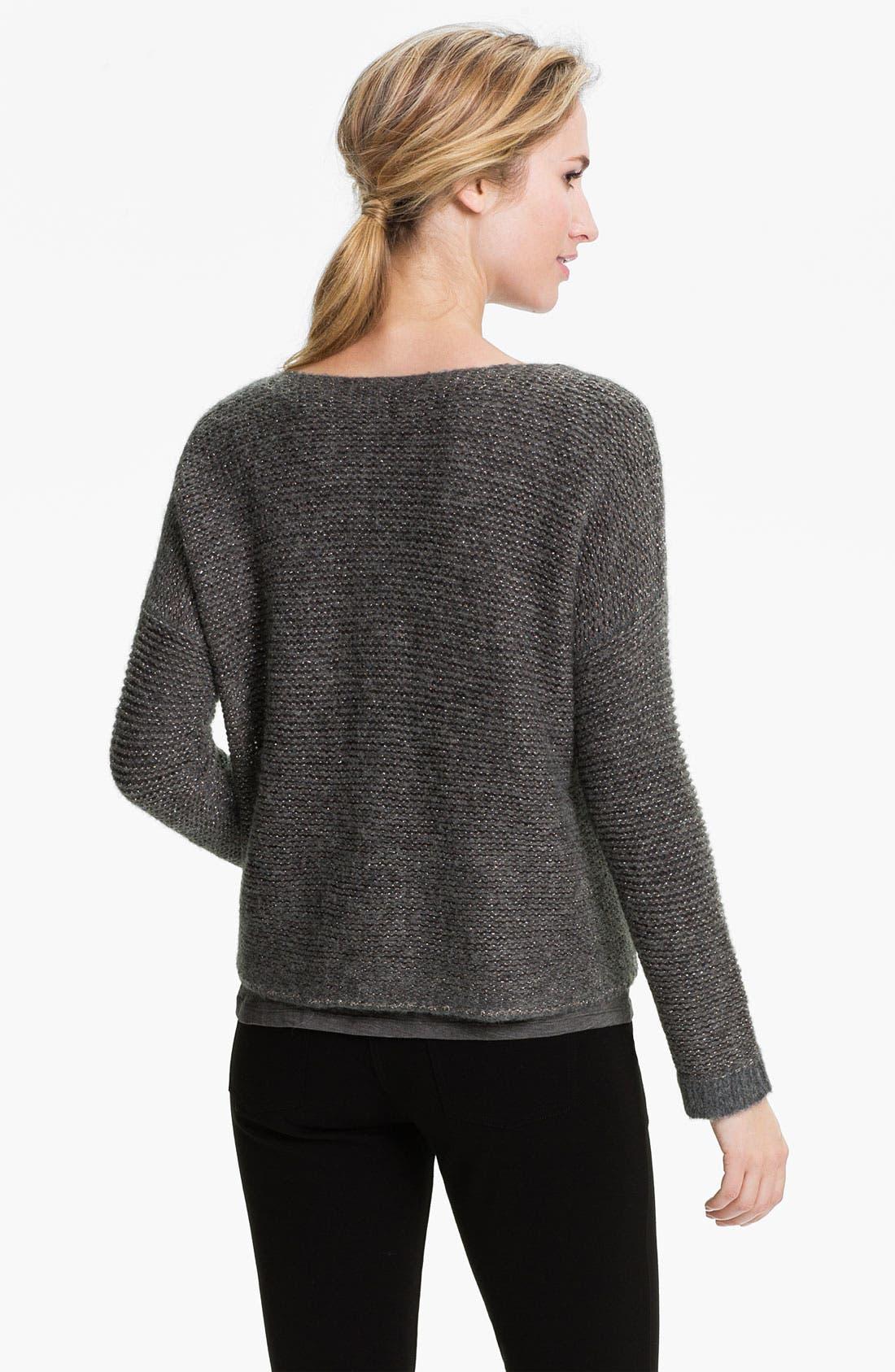 Alternate Image 2  - Eileen Fisher 'Alpaca Sparkle' V-Neck Sweater