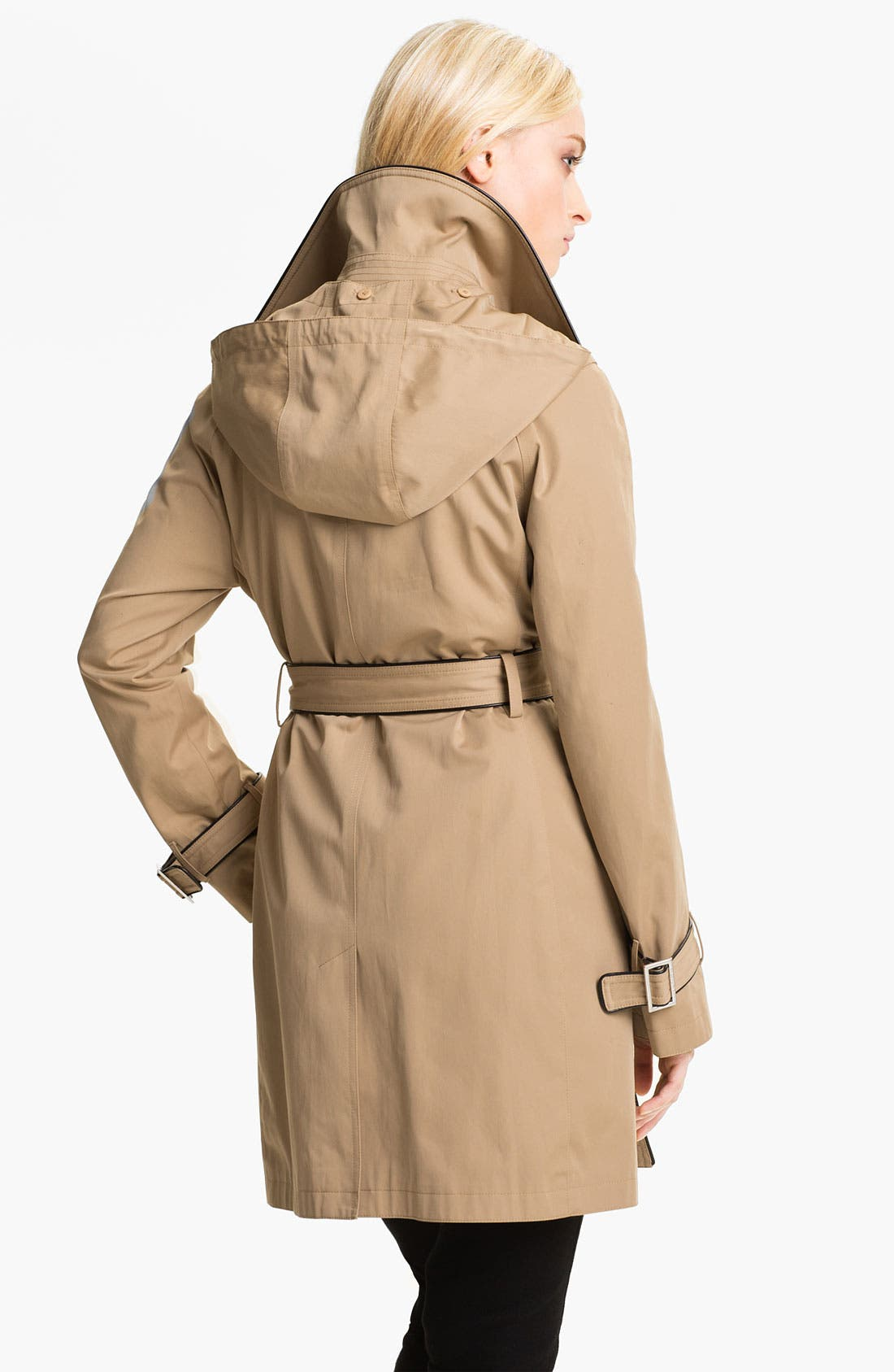 Alternate Image 2  - MICHAEL Michael Kors Piped Trench Coat with Detachable Liner