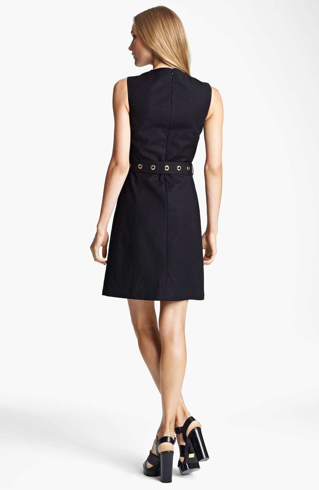 Alternate Image 2  - Michael Kors Belted Broadcloth Dress
