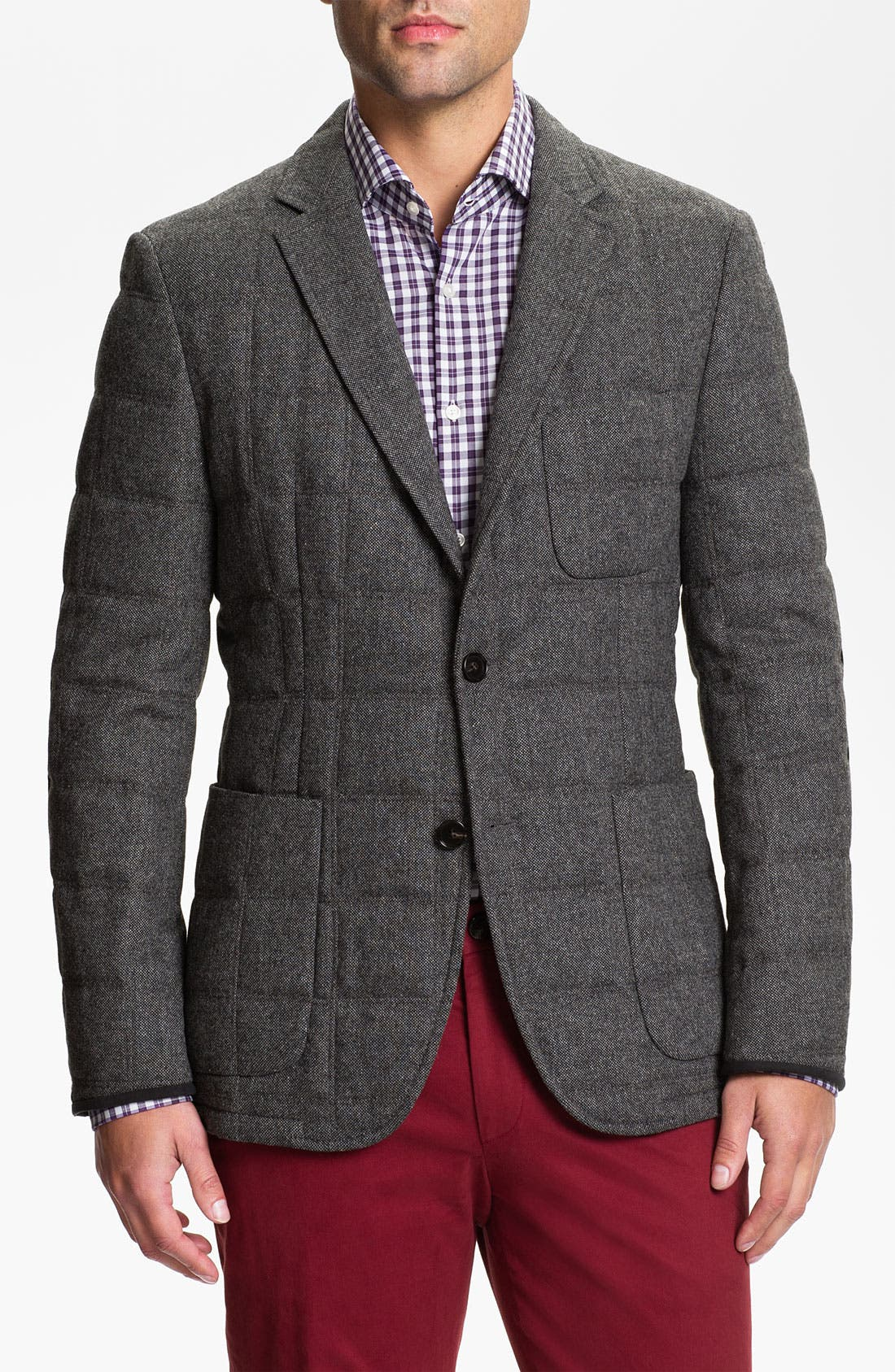 Main Image - BOSS Black 'The Soul' Trim Fit Quilted Sportcoat