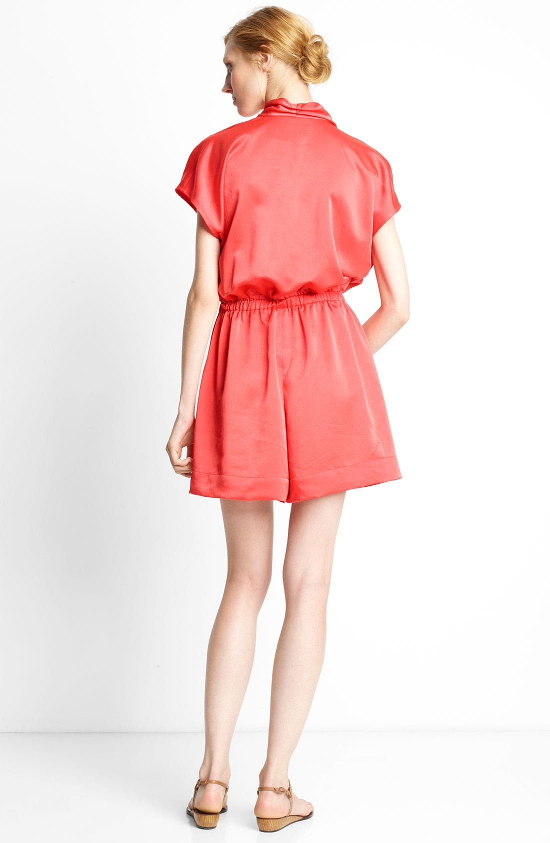 Alternate Image 2  - Lanvin Short Sleeve Techno Romper
