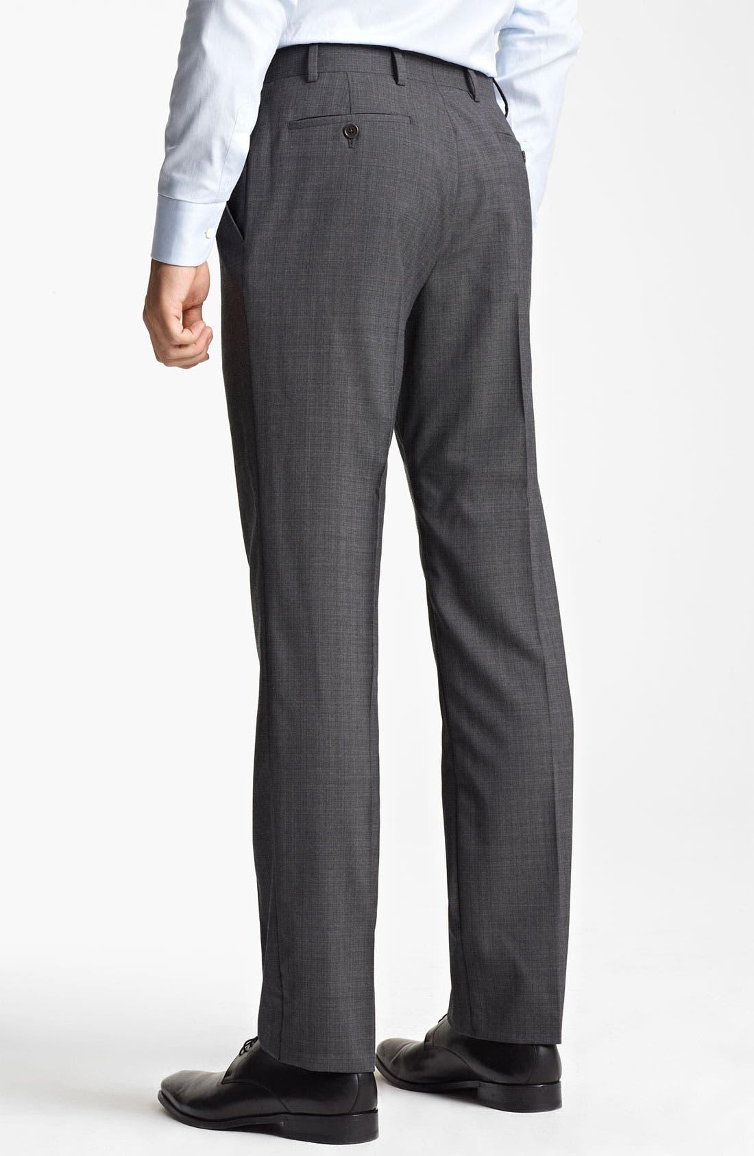 Alternate Image 4  - Armani Collezioni Trim Fit Wool Blend Suit