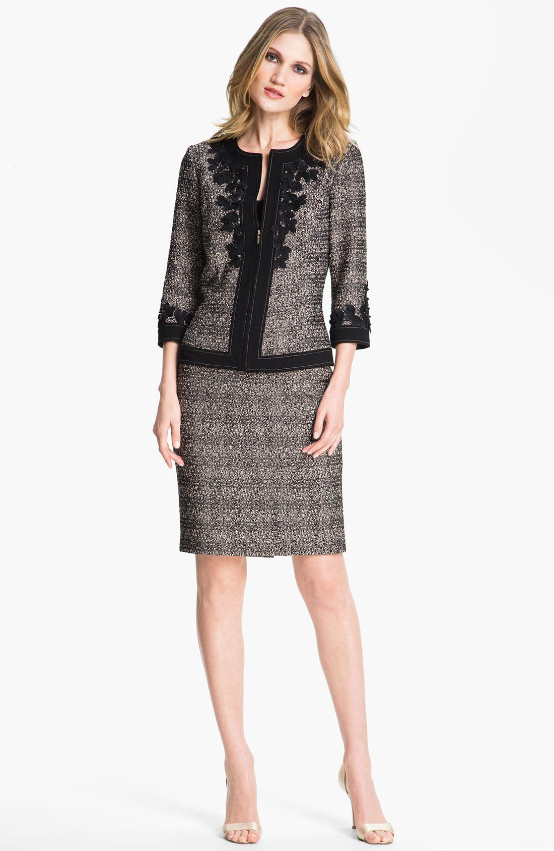 Main Image - St. John Collection Graphic Tweed Pencil Skirt