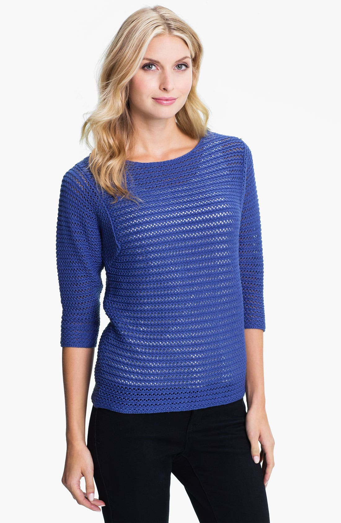 Alternate Image 1 Selected - Holistia 'Eco' Open Stitch Sweater