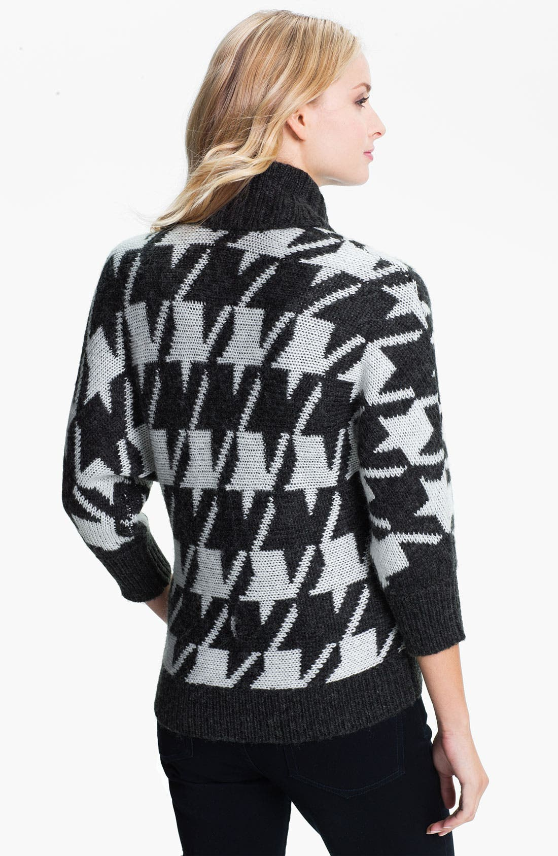 Alternate Image 2  - Amber Sun Houndstooth Sweater Jacket