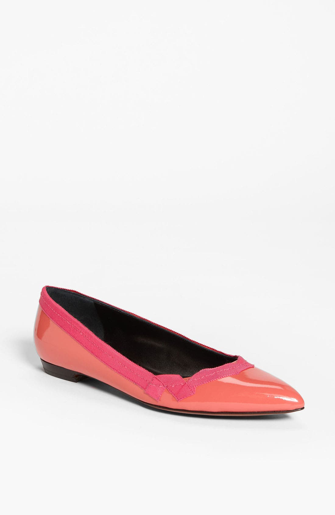 Alternate Image 1 Selected - Lanvin Pointy Toe Grosgrain Flat