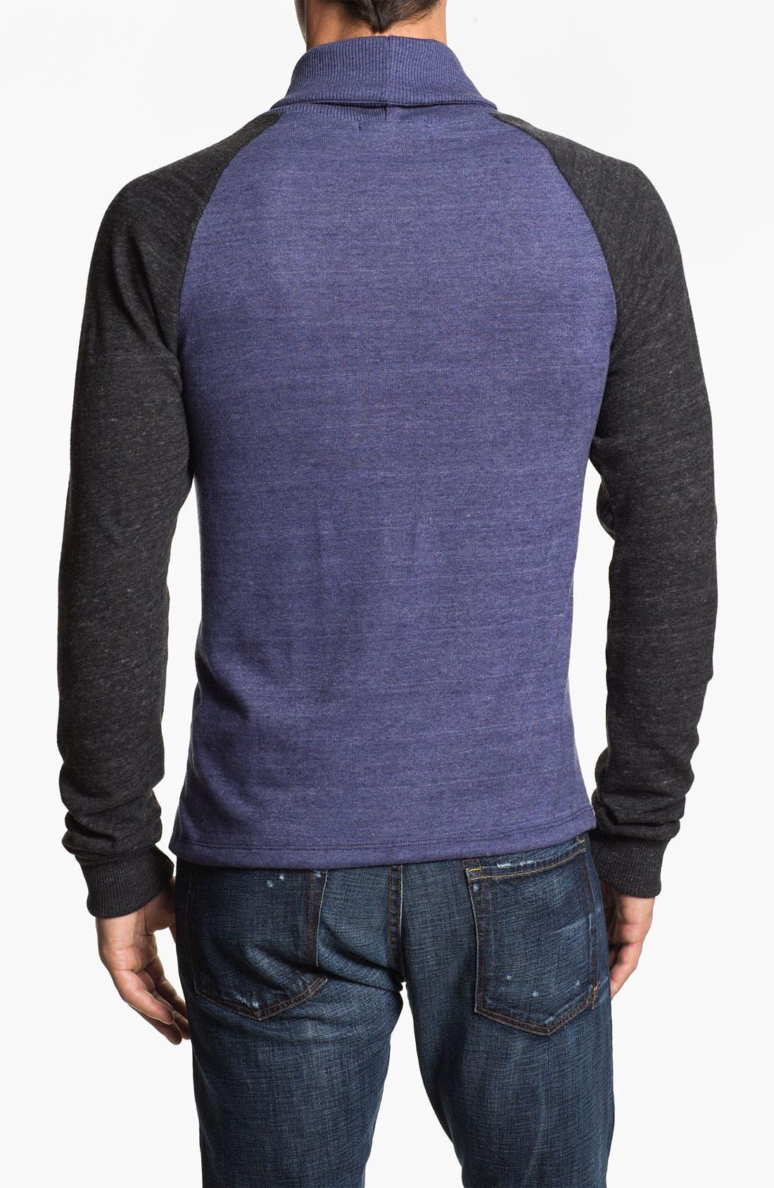 Alternate Image 2  - Alternative 'Oliver' Shawl Collar Sweatshirt