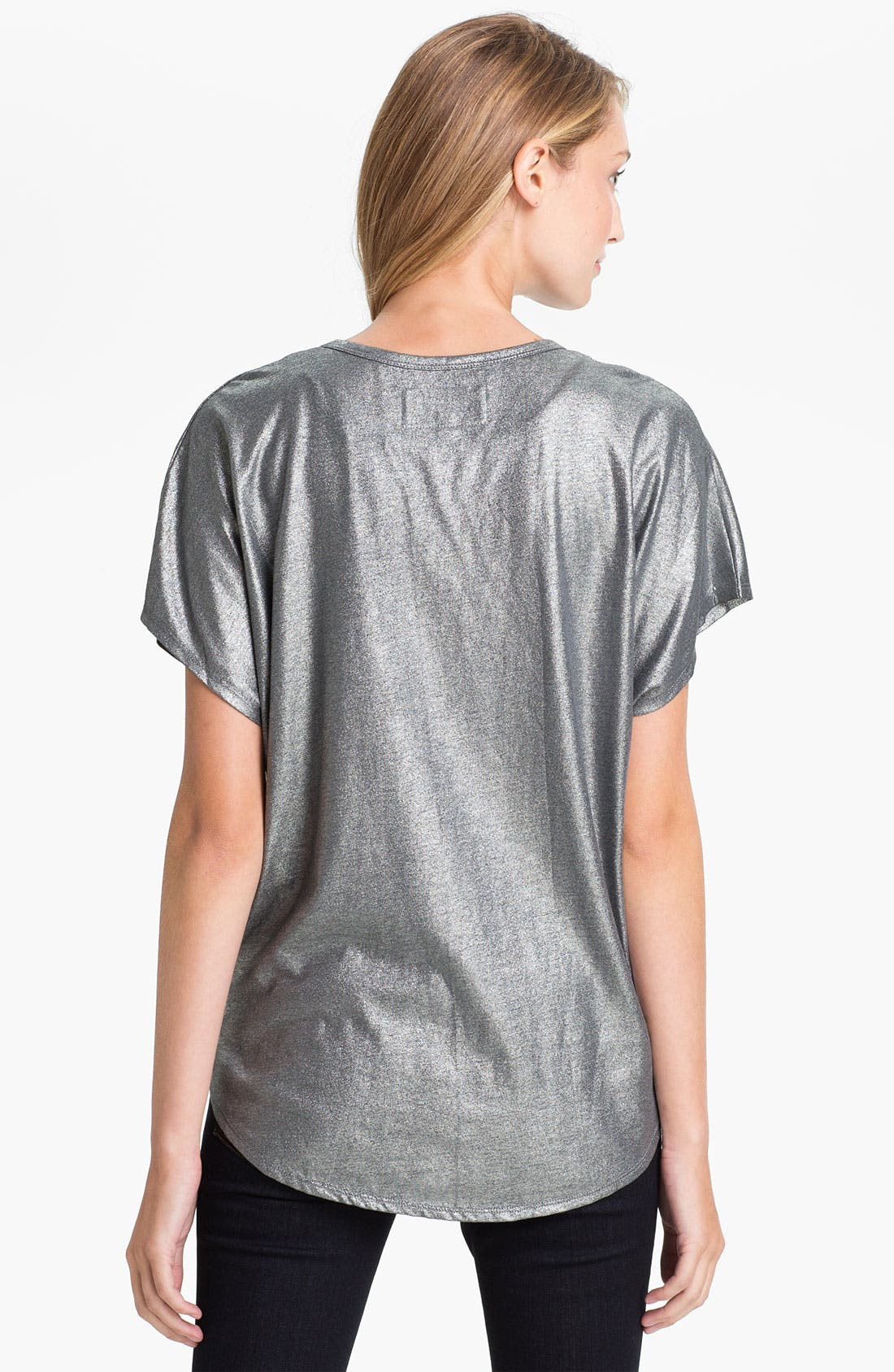 Alternate Image 2  - Two by Vince Camuto Slouchy Foil Tee