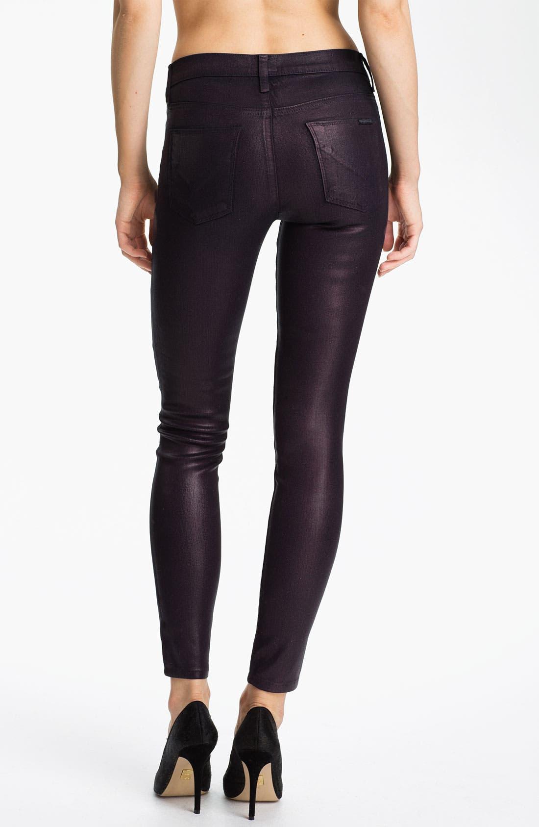 Alternate Image 2  - Hudson Jeans 'Nico' Mid Rise Skinny Stretch Jeans (Gothic Lotita)