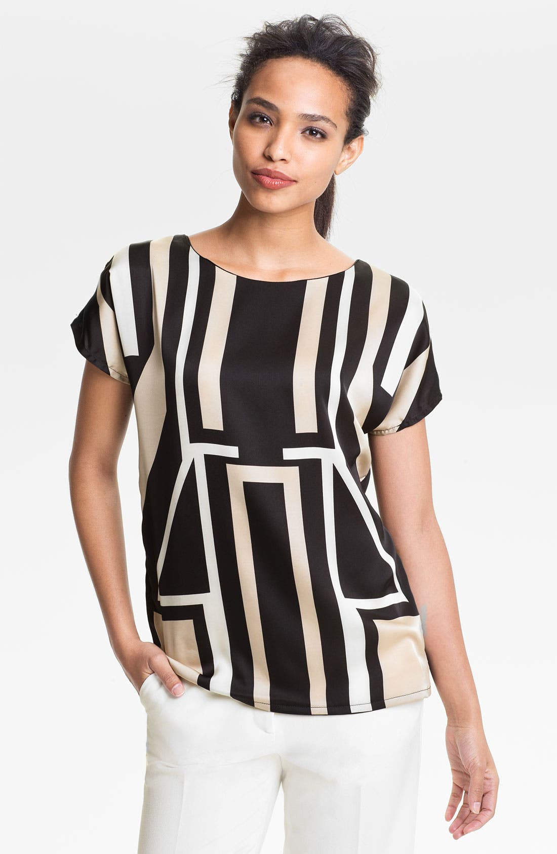 Alternate Image 1 Selected - Vince Camuto Geometric Blouse